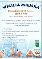 Burmistrz Korsz oraz Miejski Ośrodek Kultury w Korszach serdecznie zapraszają wszystkich Mieszkańców Korsz na WIGILIĘ MIEJSKĄ