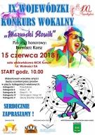 """IX WOJEWÓDZKI KONKURS WOKALNY """"Mazurski Słowik"""""""