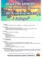 """REGULAMIN - XIII Miejsko - Gminny Konkurs Plastyczny """"W krainie mrozu i śniegu"""""""