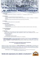"""IX Miejsko - Gminny Konkurs Plastyczny """"W KRAINIE MROZU I ŚNIEGU"""""""