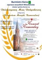 Zapraszamy do udziału w Dziękczynnej Mszy Dożynkowej połączonej z koncertem Muzyki Kameralnej