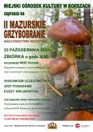 II MAZURSKIE GRZYBOBRANIE
