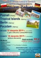 """WYCIECZKA """"SZLAKIEM ZABYTKÓW"""": Poznań (Polska); Tropical Islands (Niemcy); Berlin(Niemcy), Poczdam (Niemcy)"""